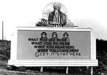 "World War II ""secrecy"" billboard"